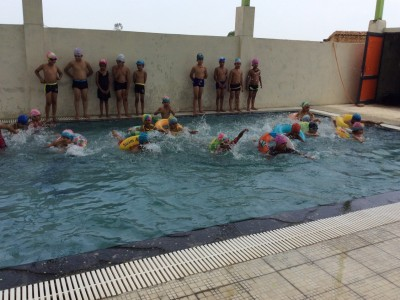 Students enjoying Swimming